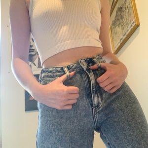pacsun acid wash mom jeans
